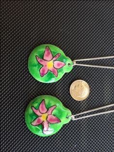 Cloisonne of pink Lily made for Reem and Lily at benchesondivision by Lawrence Kramer in July 2017