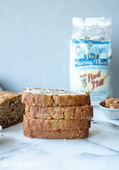 Tender Gluten-Free Banana Bread loaded with ripe bananas, coconut, and pecans. This delicious gluten-free coconut pecan banana bread brings traditional banana bread to a whole new level. Banana Blueberry Muffins, Gluten Free Blueberry, Gluten Free Banana Bread, Make Banana Bread, Chocolate Banana Bread, Banana Bread Recipes, Fun Baking Recipes, Gluten Free Recipes, No Rise Bread