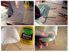 Cómo hacer una silla moderna con un trozo de botella de plástico y un alambre. Fantástico!!!