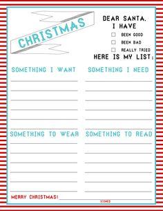 The Christmas List: 4-Things (FREEBIE)