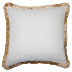 Adorned with fringe details, this velvet pillow adds stylish appeal to your living room sofa or arm chair.   Product: Pillow