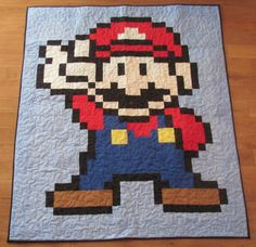 Sewing projects involving Mario, for the hubby!