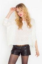 Black leather shorts :)