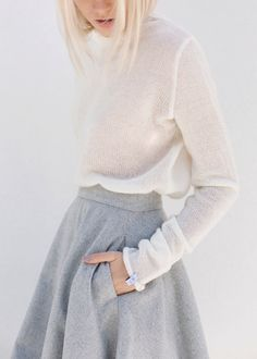 Wool Skirt & Sweater | Atuko on Etsy