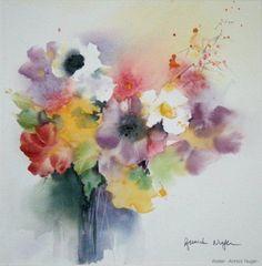 Annick Nuger  - fleurs dans un vase