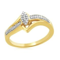 18K Yellow Gold GP 0.10cttw Sterling Silver Round Cut Marquise Bridal Ring #affinityengagementjewels #Bridal Ring #(M-026VA51686401P) other sellar listing
