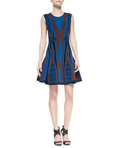 T80NT Diane von Furstenberg Gabby Sleeveless Fit & Flare Dress  $498 Might be too form fitting and/or short -have to try it on