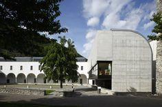 Village School  (former St Augustinian Monastery) Monte Carasso, Switzerland (1992) | Luigi Snozzi | Photo : Serge Demailly