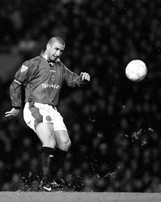 This excellent photo shows eric cantona executing his iconic chip in. 35 Eric Cantona Ideas Eric Cantona Manchester United Football Manchester United Football Club