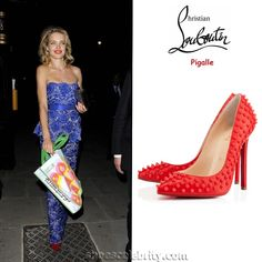Natalia Vodianova Christian Louboutin Pigalle Studded Pumps