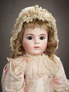 """""""A Time For Gratitude"""" - Sunday, November 13, 2016: 97 Beautiful French Bisque Bebe Bru Jne with Signed Bru Body, Size 9"""
