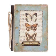 Notizbuch von Clayre & Eef // Schmetterlinge   Dieses schöne Notizbuch von Clayre & Eef (6PA0288) könnte nicht nur als Tagebuch dienen, sondern würde sich auch hervorragend dazu eignen Familienrezepte, z.B. für Marmelade, zu bewahren.   Das Buch misst 18cm auf 14cm.   12,99 €  Gesamtpreis, zzgl. Versandkosten  verfügbar   1 - 3 Tage