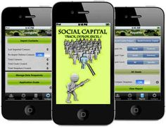 Social Capital application helps you focus and direct the power of your Social Network toward achievement of your Goals. For More Information Visit at: http://www.crispycodes.com/mobile