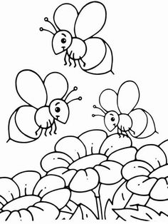 Coloring Pages Honey Bee from Bee Coloring Pages For Kids. Have fun discovering pictures to print and drawings to color. Hours of fun await you as you color bee coloring pictures. The bee is an insect often kn. Zebra Coloring Pages, Insect Coloring Pages, Kids Printable Coloring Pages, Shopkins Colouring Pages, Dinosaur Coloring Pages, Butterfly Coloring Page, Coloring Pages To Print, Coloring Book Pages, Coloring Pages For Kids