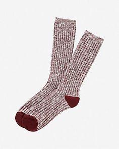 marled tip crew socks