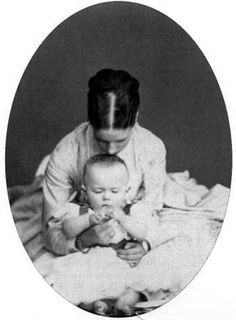 Nicholas with his beautiful young mother, Marie Feodorovna (Dagmar)
