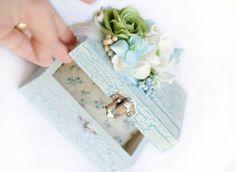 Jewelry Box with handmade Clay Flowers