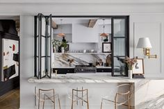 Parisian Apartment, One Bedroom Apartment, York Apartment, Manhattan Apartment, Apartment Ideas, Circa Lighting, Victorian Townhouse, Townhouse Designs, Paris Home