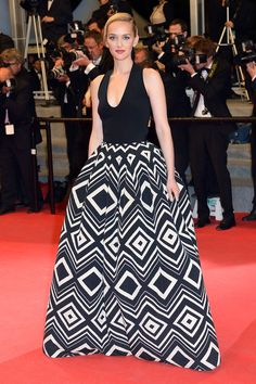 Cannes Fashion - Red Carpet Dresses at Cannes 2014 - Harper's BAZAAR | Jess Weixler in Martin Grant
