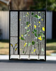 SUMMER GARDEN  Abstract Stained Glass Window by gallerydelsol, $105.00
