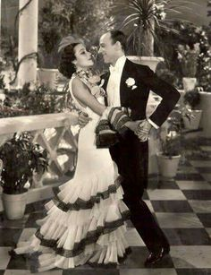 "Fred Astaire and Delores Del Rio in ""Flying Down To Rio"" (1933)"