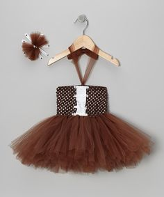 Take a look at this Brown Football Tutu Dress & Bow Clip - Infant on zulily today!
