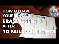 How to Have Your #iPhone Erase Itself After 10 Failed Attempts  More here: http://www.cyberguy.com/appearances/how-to-make-your-iphone-ipad-stronger-against-hackers/ #passwords #Apple #iOS #safety #security #tech