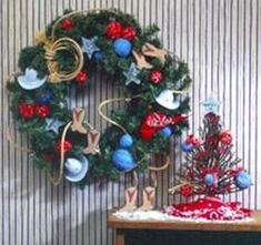 Country-Themed Ornaments and Wreath | FaveCrafts.com