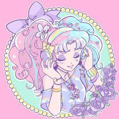 Love the pastel anime art :D:
