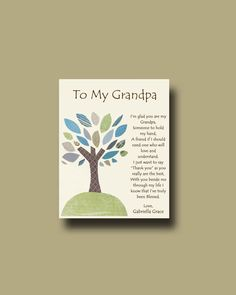 Grandfather gift  Personalized gift for Grandpa  by BoutiqueBlu, $10.00