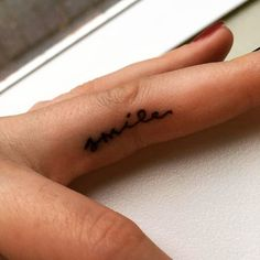stickandpoketattoo:Hand poked Smile'tattoo by the beautiful...