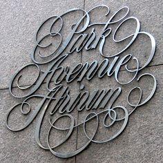 Park Avenue Atrium #typeface