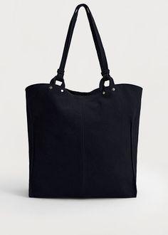 Süet shopper çanta | MANGO