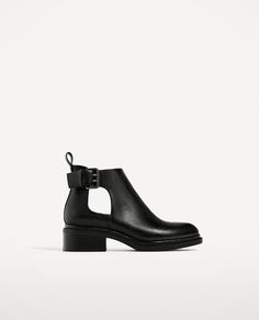 FLAT OPEN ANKLE BOOTS-MID SEASON | 50% OFF-WOMAN | ZARA United States