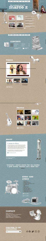 Unique Web Design, Marco Z #webdesign #design (http://www.pinterest.com/aldenchong/)