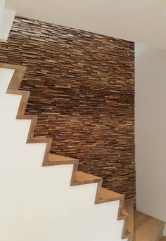 Reclaimed wood 3D Wall Tile SKIN PANEL S by Teakyourwall