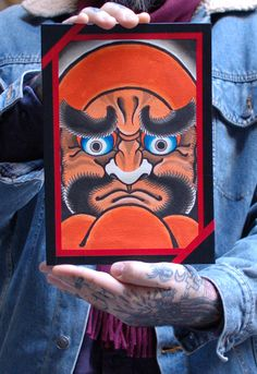 Original artwork by Yozin Irezumi. Buy it here: http://lacobranegrashop.com/product/daruma-by-yozin