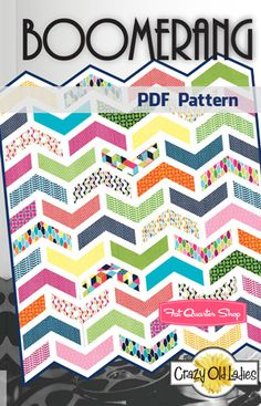 Boomerang Downloadable PDF Quilt Pattern Crazy Old Ladies - Fat Quarter Shop