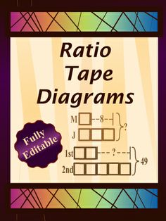Solving ratio problems with tape diagrams interactive notebook solving ratio problems with tape diagrams interactive notebook diagram math and middle school maths ccuart Images