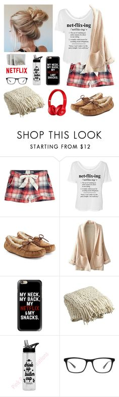 """""""Sick days!"""" by isabel-harsh ❤ liked on Polyvore featuring Fat Face, UGG Australia, WithChic, Casetify, CB2, Joseph Marc and Beats by Dr. Dre"""