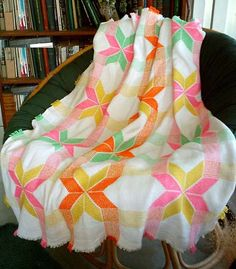 Swedish Weaving Patterns and Instructions | ... weave Star pattern, Swedish weaving Swedish Star blanket instructions