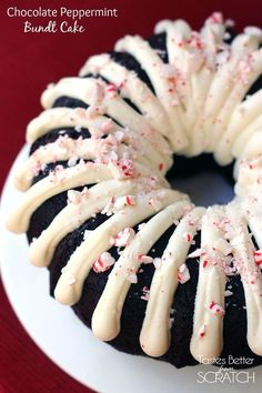 Chocolate Peppermint Bundt Cake on TastesBetterFromScratch.com: