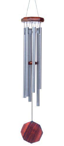 Russ Berrie WC-JWS-248 America the Beautiful Lyrics by Katherine Bates JW Stannard Wind Chime by Russ Berrie. $29.99. Each bell is individually hand-tuned; sound is very precise, it is considered a musical instrument. Made of 6 tubular silver bells: f4, d5, c5, a#5, a5, g4. The top is made from weather resistant hardwoods and hand-rubbed with three coats of marine varnish; a dragonfly design is molded into the paddle. Measures 5 by 2.2 by 13.8 inches. Removable hangers slip ...