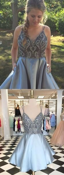 468ecae964a Light Sky Blue Black Short Homecoming Dresses Prom Dresses sold by  dressydances. Shop more products from dressydances on Storenvy