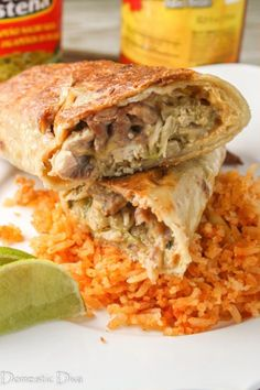 Extra crispy oven baked gluten free chimchangas! Recreate your taco leftovers and serve a meal your family will love! Casserole Recipes, Meat Recipes, Mexican Food Recipes, Real Food Recipes, Chicken Recipes, Healthy Recipes, One Skillet Meals, Healthy Weeknight Meals, Mexican Cooking