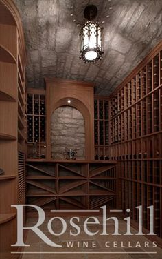 Custom #wine cellar with barrelled ceiling. Get your own beautiful #winecellar from Rosehill Wine Cellars.