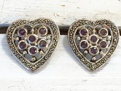 Sterling Silver Openwork Heart Pierced Earrings