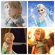 that moment when Astrid { How To Train Dragon } looks like a younger version of Elsa { Frozen }