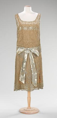 Dress, Evening  Martha Weathered, Inc.   Date: ca. 1925 Culture: American Medium: silk, metal, rhinestones