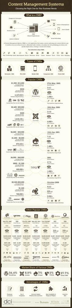 Content Management Systems Jungle: Find your Way [Infographic] -- [Content Management Systems] [CMS] [WordPress] [Joomla] [Drupal] [Overview] Inbound Marketing, Marketing Digital, Marketing Trends, Content Marketing, Internet Marketing, Online Marketing, Marketing Training, Affiliate Marketing, Content Management System